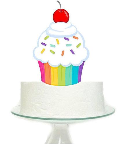 Cupcake Big Topper for Cake - 1 pcs set