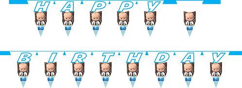 Boss Baby HAPPY BIRTHDAY Banner