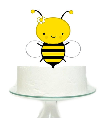 Cute Bee Big Topper for Cake - 1 pcs set