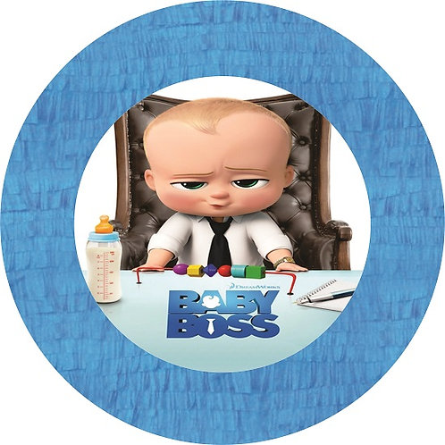 Boss Baby Birthday Party Pull Strings Pinata Round -35 cm