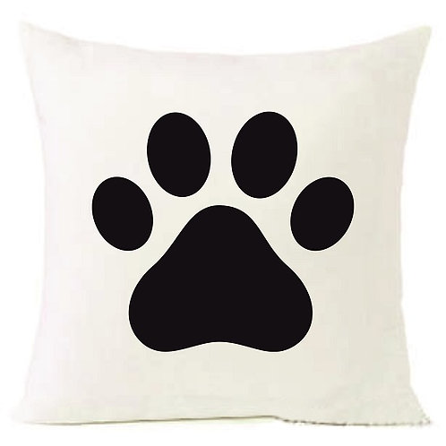 DOG FOOT PRINT Cushion Decorative Pillow COTTON OR LINEN - 40