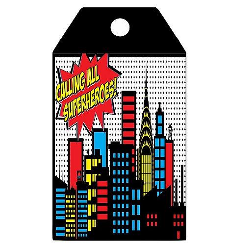 Superheroes Gifts Tags - 12 pcs set