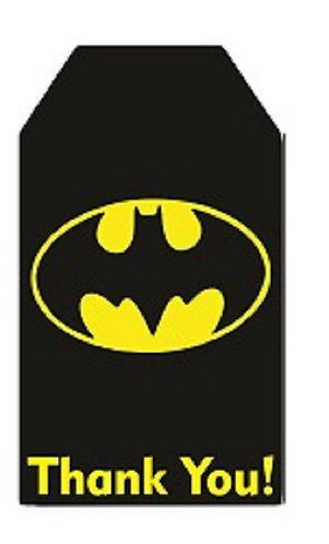 Batman Logo Gifts Tags - 12 pcs set