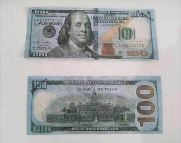 100 pcs Money Prop Money Full Print 2 Side (dollars)100 Dollar Bills Copy Money