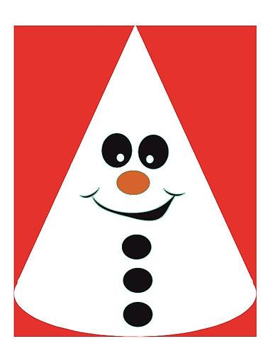 Christmas Snowman Party Hats - 6pcs