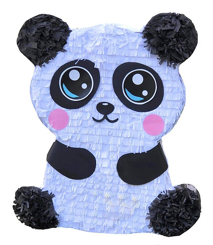 Panda Birthday Party Pull Strings Pinata - 40cm