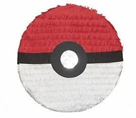Pokemon Ball Birthday Party Pull Strings Pinata - 35cm