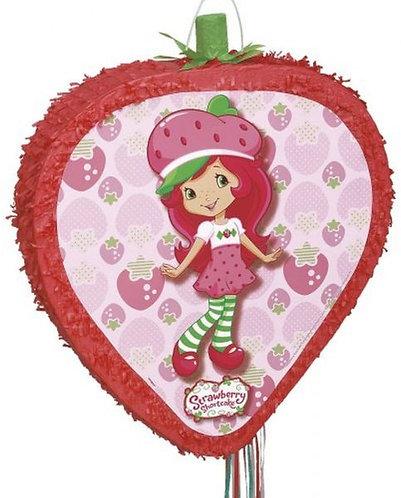 Strawberry Shortcake Birthday Party Pull Strings Pinata - 40cm