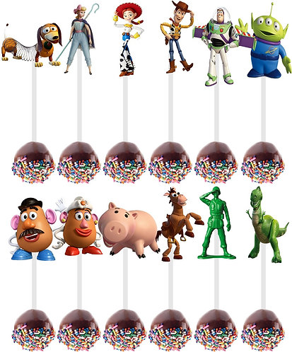 Toy Story Characters Cakepops Toppers - 12 pcs set