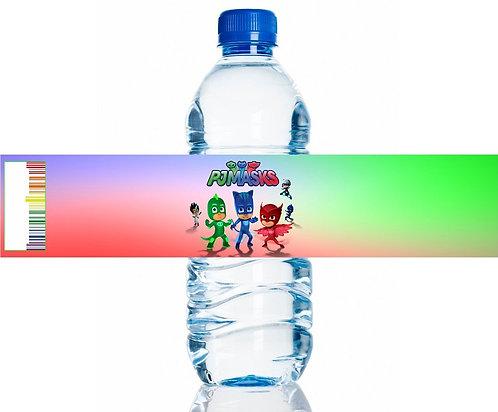 PJ Masks Water Bottles Stickers - 6 pcs set