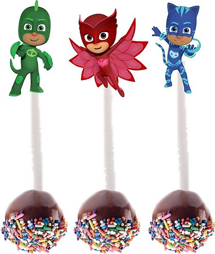 Pj Masks Cakepops Toppers - 12 pcs set