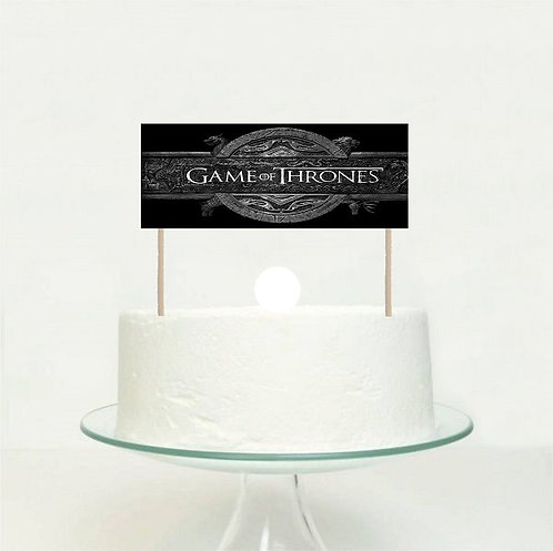 Game of thrones Big Topper for Cake - 1pcs set