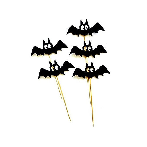 Halloween Bats Cupcakes Toppers or Wrappers -12 or 24 pcs