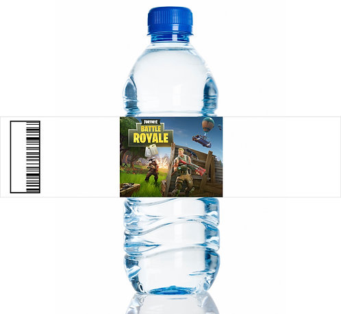 Fortnite Game Water Bottles Stickers - 6 pcs set