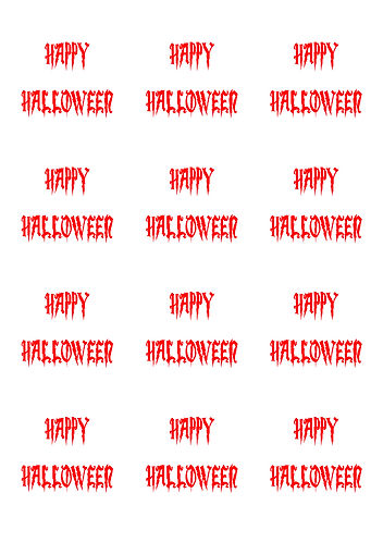 Happy Halloween Whte Round Glossy Stickers - 12 pcs set