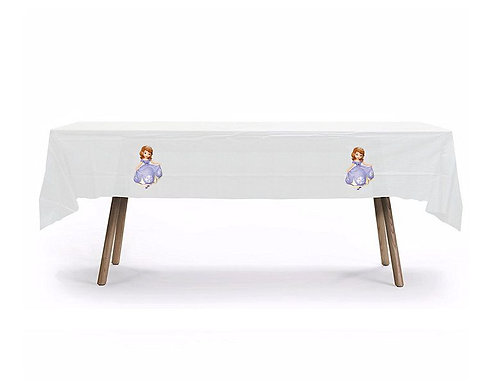 Princess Sofia the First Plastic Table Cover with Stickers - 140 cm x 275cm