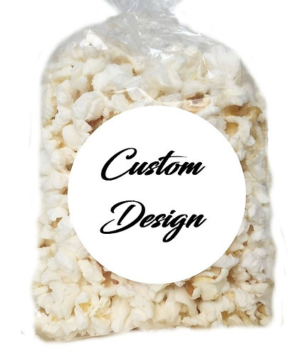 CUSTOM DESIGN Giveaways Clear Bags for Popcorn or Candies - 12 pcs set