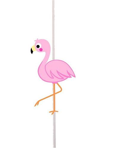 Flamingo Cakepops Toppers - 12 pcs set
