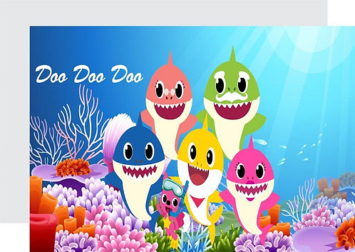 Baby Shark Invitations - 12 pcs party invites