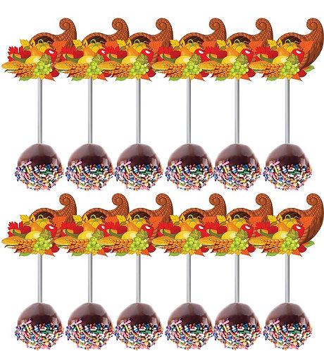 THANKSGIVING Cakepops Toppers - 12 pcs set
