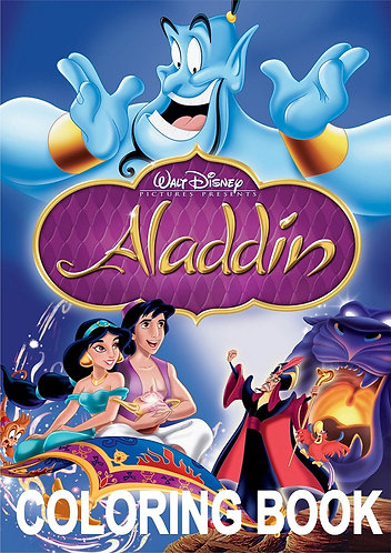 Aladdin Small Coloring Book