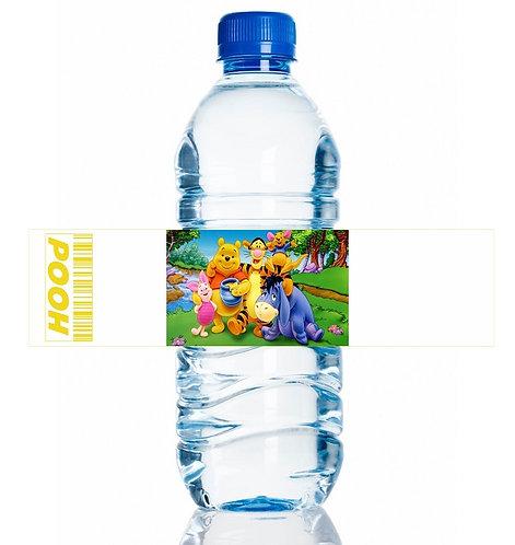 Winnie the Pooh Water Bottles Stickers - 6 pcs set