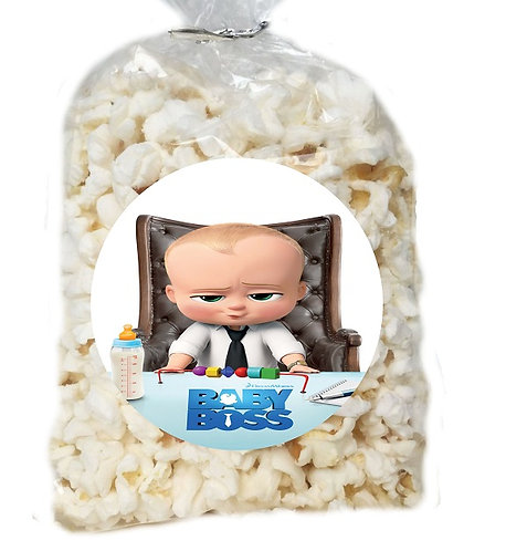 Boss Baby Giveaways Clear Bags for Popcorn or Candies - 12 pcs set