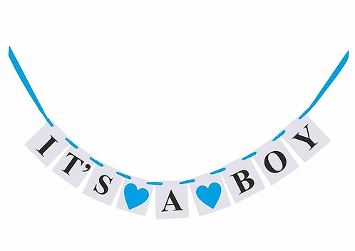 ITS A BOY Baby Shower Gender Reveal Banner