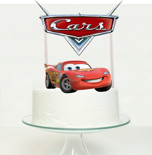 Cars Big Topper for Cake - 2 pcs set