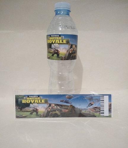 Fortnite Game Water Bottles Stickers - 6 pcs set