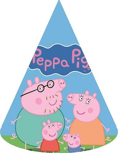 Peppa Pig Party Hats - 6pcs