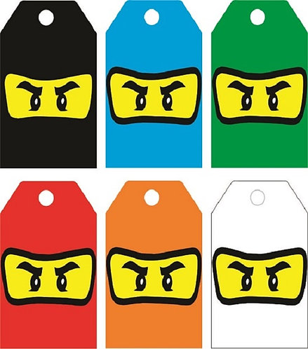 Ninjago Lego Gifts Tags - 12 pcs set