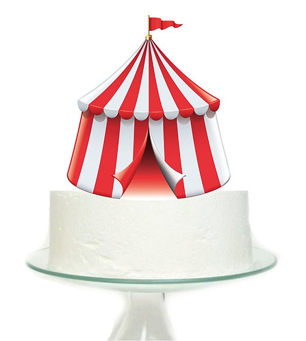Carnival Circus Tent Big Topper for Cake - 1 pcs se