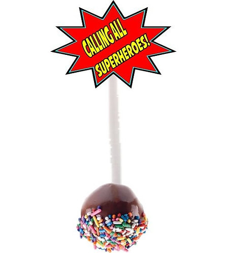 Calling All Superheroes Cakepops Toppers - 12 pcs s