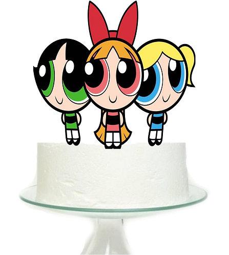 Powerpuff Girls Big Topper for Cake - 1 pcs set