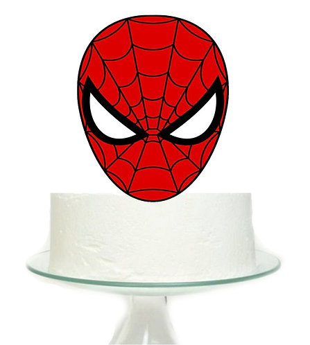 Spiderman Head Superheroe Big Topper for Cake - 1 pcs set