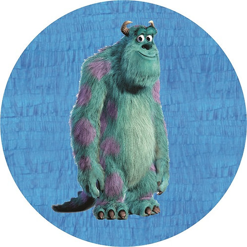 Monsters Inc Blue Party Pull Strings Pinata - 35cm