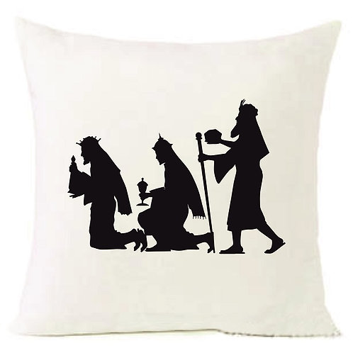 Christmas 3 Holy Kings Cushion Decorative Pillow COTTON OR LINEN -40cm