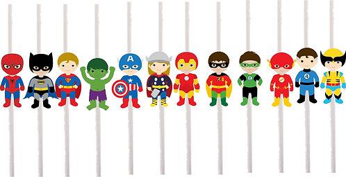 Superheroes Boys Cakepops Toppers - 12 pcs set