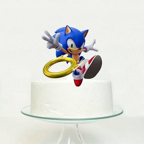 Sonic Game Big Topper for Cake - 1 pcs set