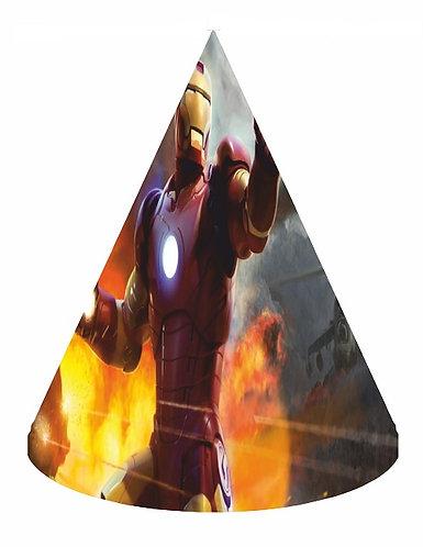 Iron Man Party Hats - 6pcs