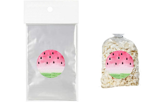 Watermelon Giveaways Clear Bags for Popcorn or Candies - 12 pcs set