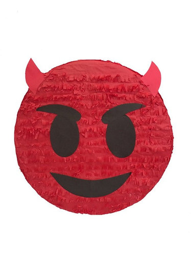 Emoji Devil BOY OR GIRL Birthday Party Pull Strings Pinata -35cm