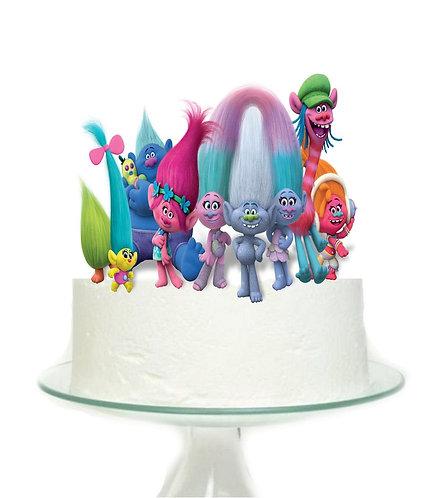 Trolls Big Topper for Cake - 1 pcs set