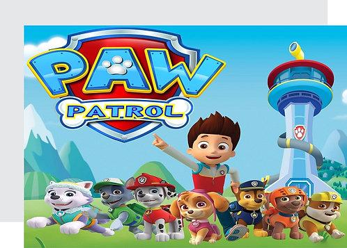 Paw Patrol Invitations - 6pcs party invites