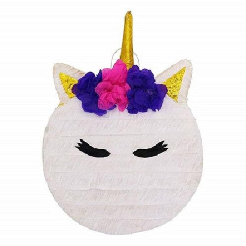 Gold Horn Unicorn Birthday Party Pull Strings Pinata - 40cm