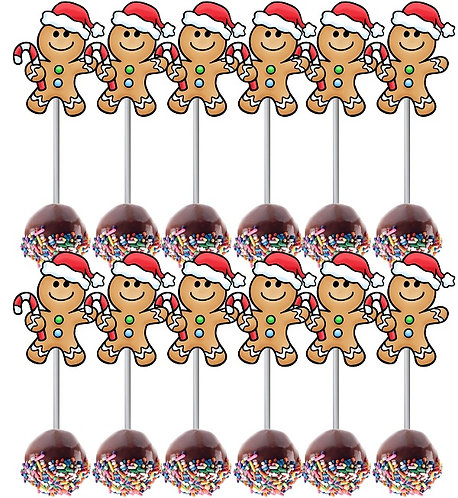 CHRISTMAS Cakepops Toppers - 12 pcs set