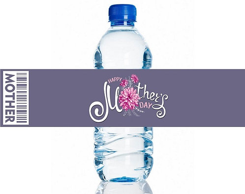 Mothers Day Water Bottles Stickers - 6 pcs set