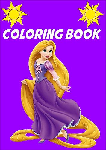 Princess Rapunzel Small Coloring Book