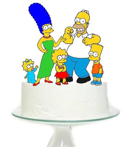 Simpsons Big Topper for Cake - 1 pcs set